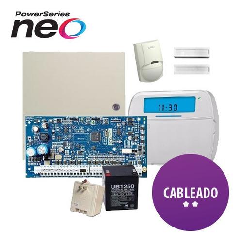 kit alarma dsc 585 cableada para casa sensor movimiento 1832