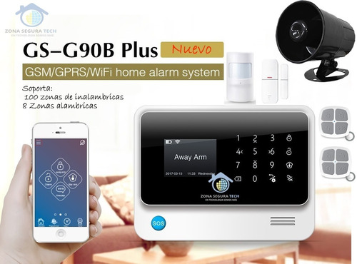 kit alarma inalambrica g90b plus wifi gsm gpr domotica smart