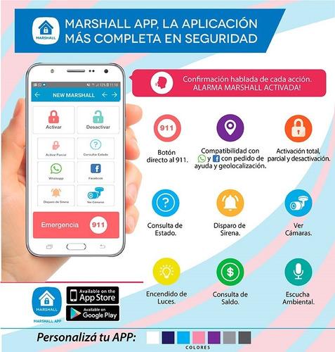 kit alarma marshall 3t 3g gsm inalambrica domiciliaria 03f