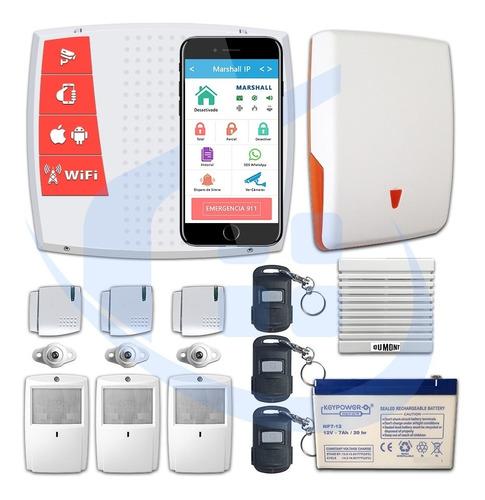 kit alarma wifi inalámbrica marshall ip casa sirena oferta!