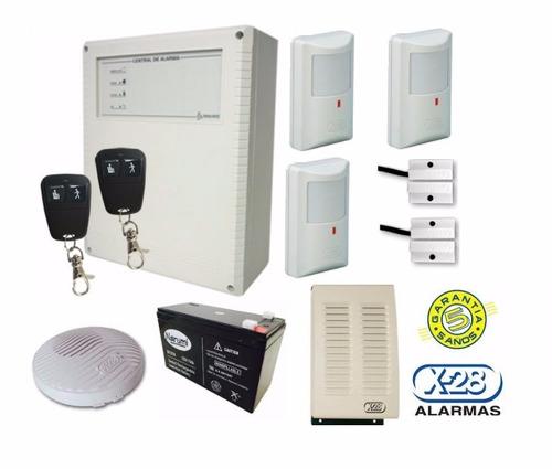 kit alarma x-28 6002w 2 zonas nc