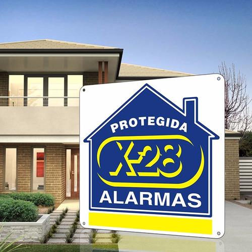 kit alarma x-28 casa 8 zonas mascotas celular luz emerg