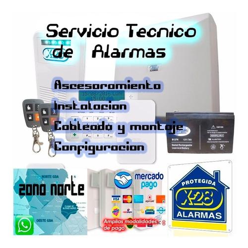kit alarma x28 domiciliaria casa comercio hogar x 28 instalc