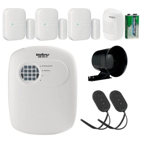 kit alarme anm 3004 sem fio intelbras residencial ecomercial