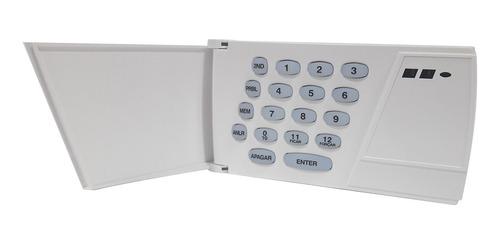 kit alarme com central 636 esprit + teclado 24 zonas paradox