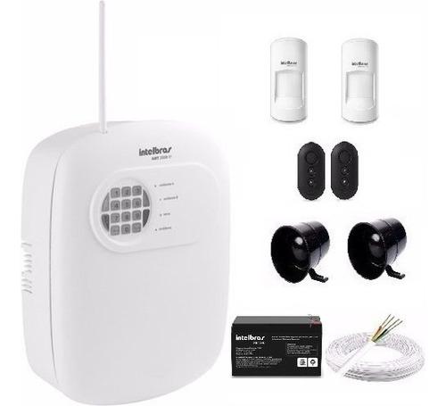 kit alarme intelbras 4 zonas com fio e sensores pet 20 kg