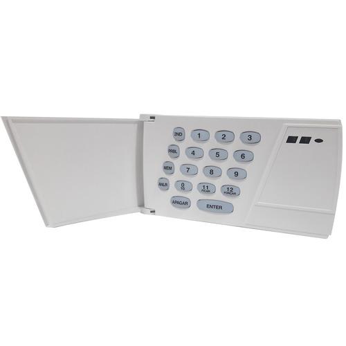 kit alarme monitorado paradox teclado, central e 2 sensores