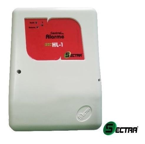 kit alarme residencial 2 setores comercial com bateria