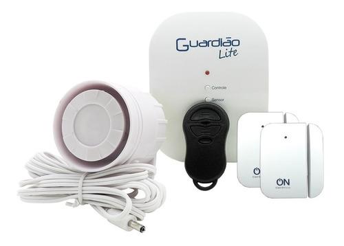 kit alarme residencial sem fio - guardião lite