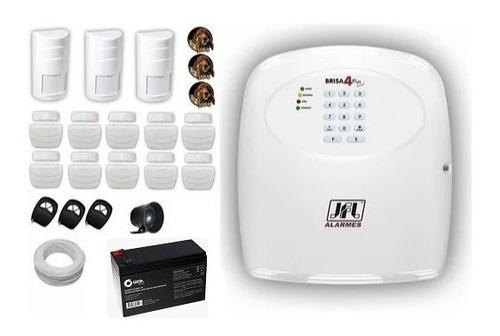kit alarme sem fio jfl 13 sensores infra pet longa distância