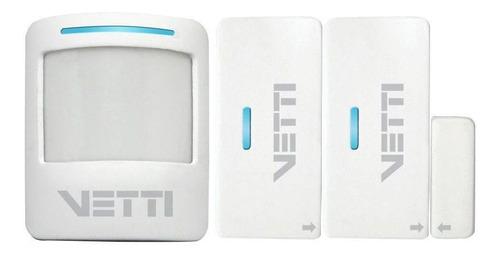 kit alarme sem fio - smart alarm kit vetti com discador gsm