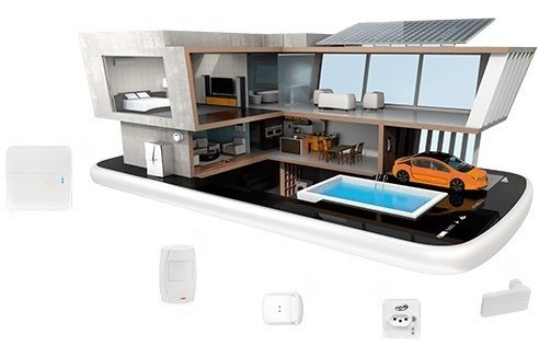 kit alarme sem fio wifi/gsm residencial spirit c/ 2 sensores