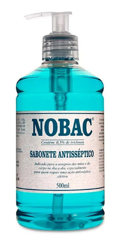 kit álcool gel 420g e sabonete antisséptico 500ml - nobac