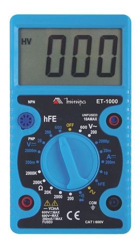 kit alicate amperímetro minipa et-3200 + multímetro et-1000