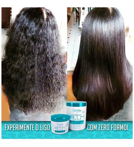kit alisamento btox zero 1k e shampoo detox forever liss