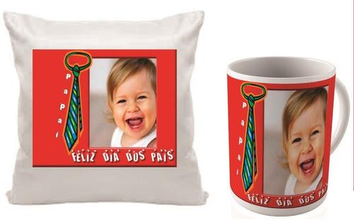kit almofada, caneca, personalizada,com foto,dia dos pais