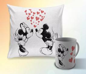 876f7af73245a0 Kit Almofada E Caneca Dia Dos Namorados Mickey E Minnie