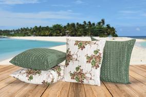 fda9fe9096dd54 Kit Almofadas Decorativas Com Enchimentos 8 Peças Verde