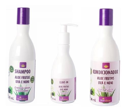 kit aloe frutas para cabelos secos live aloe vera