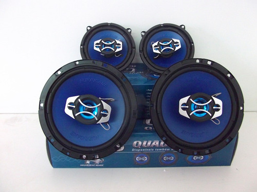 kit alto falantes hurricane gol g5