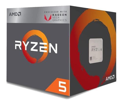 kit amd ryzen 5 2400g + placa mãe a320m + 4gb ddr4 2400mhz