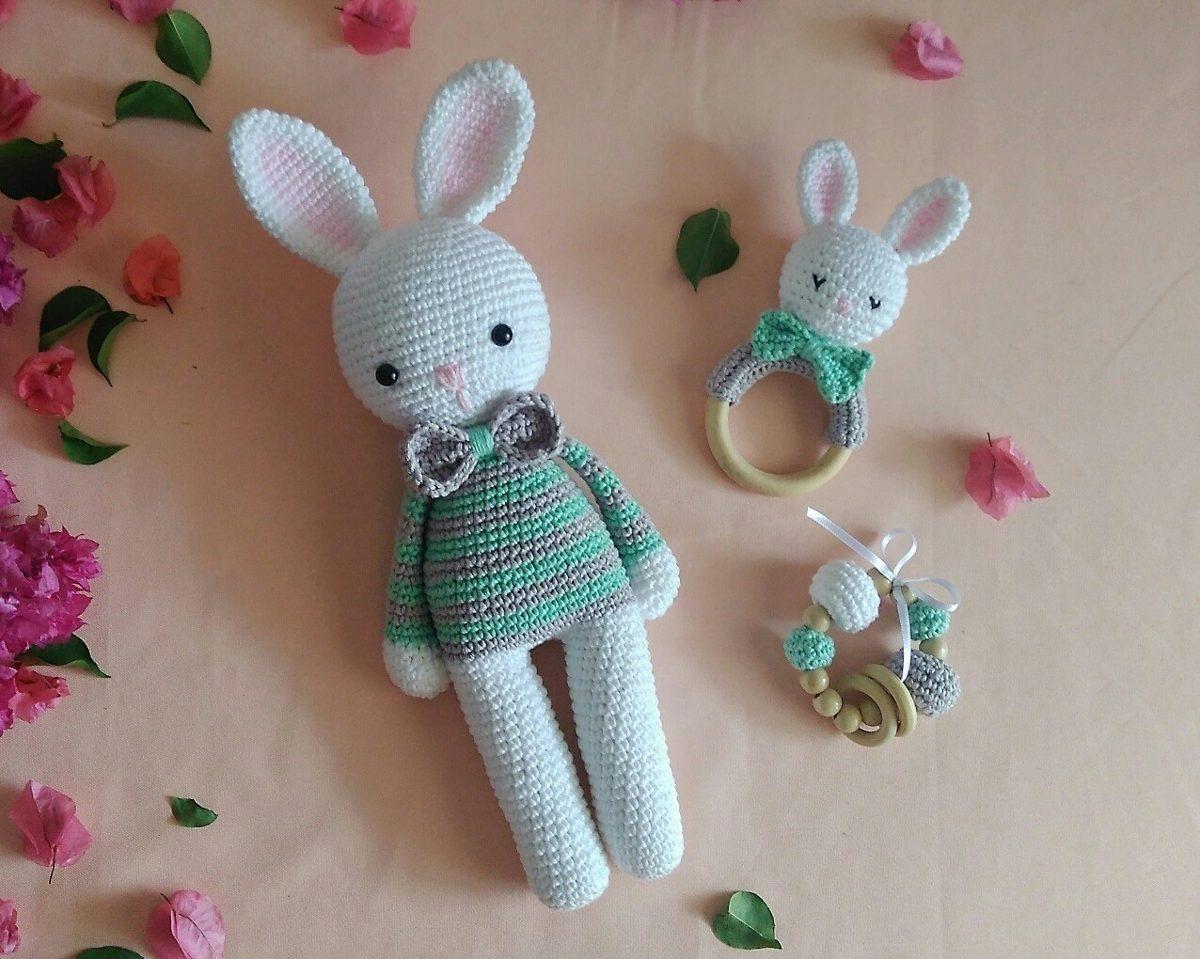 amigurumi kit para bebe 👶🏻♥️ #crochet... - RHM Muñecas Tejidas ...   959x1200