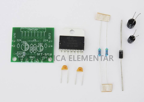 kit amplificador de áudio 30w para montar frete 10,00 reais