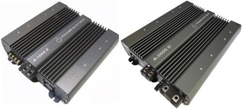 kit amplificador power systems a1000 + a3500