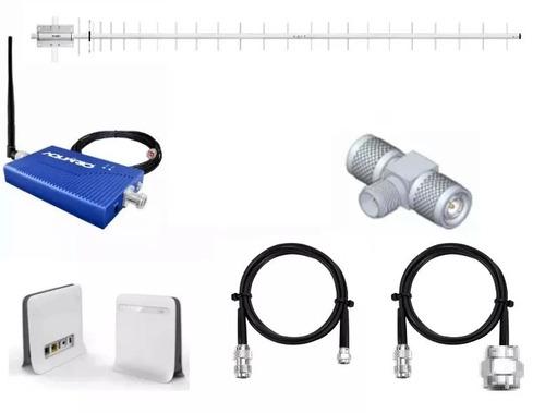 kit amplificador repetidor celular 850mhz 20dbi +roteador 3g