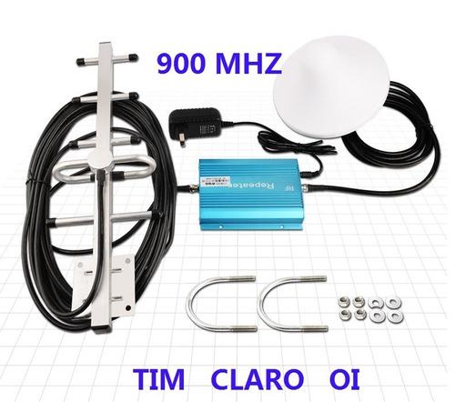 kit amplificador repetidor celular 900mhz p/ tim claro oi