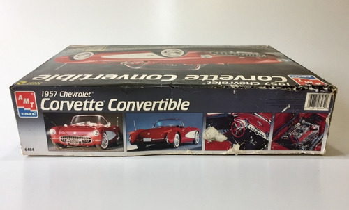kit amt chevrolet corvette 1957 -  escala 1/16 p/ montar