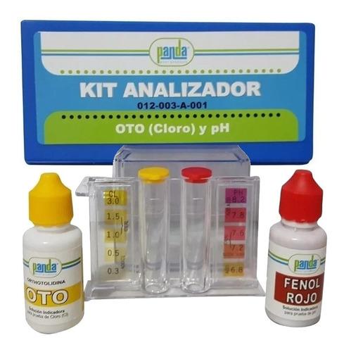 kit analizador + tricloro tabletas 3 pulg 1 kg y dispensador