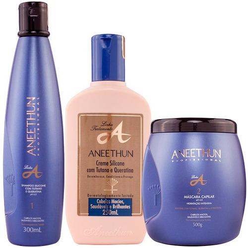 kit aneethun profissional (másc+shampoo+cond)