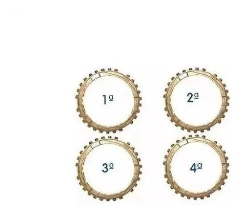 kit anel sincronizador 1ª 2ª 3ª 4ª marchas kombi original vw