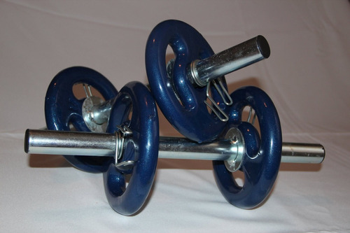 kit anilhas barras musculação
