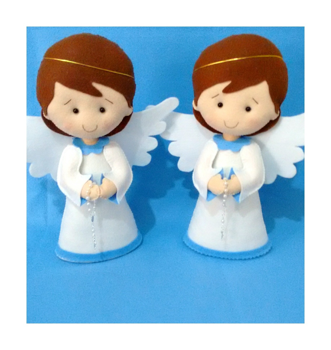 cb6047deb98 kit anjos batizado decoração festa feltro 30cm 2 un. Carregando zoom.
