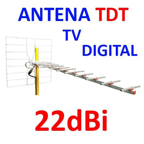 kit antena tv digital 22db tdt sntdt14r tda uhf + cable rg6