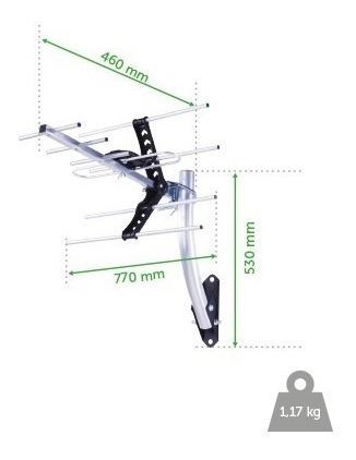 kit antena tv externa digital intelbras ae 5010 hdtv uhf top