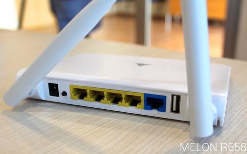 kit antena y router wifi repetidor de red usb melón r658