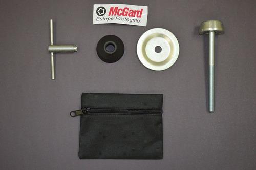 kit antifurto de estepe mcgard p/ gm prisma 2013 em diante