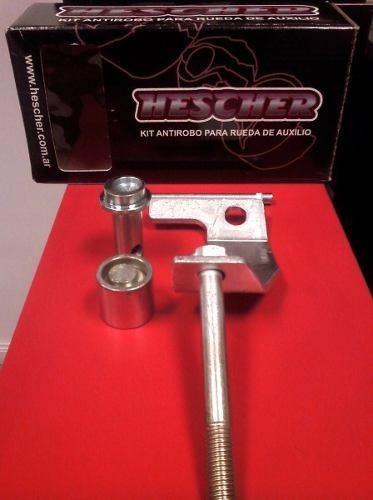 kit antirobo rueda de auxilio hescher amarok llanta 17