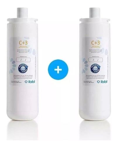 kit anual 2x refil ibbl origina c+3 original triplo filtro