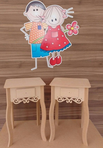 kit aparadores criado mudo decoração festa casa prince mdf