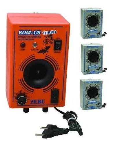kit aparelho espanta rato e morcego turbo 600m +3 emissores