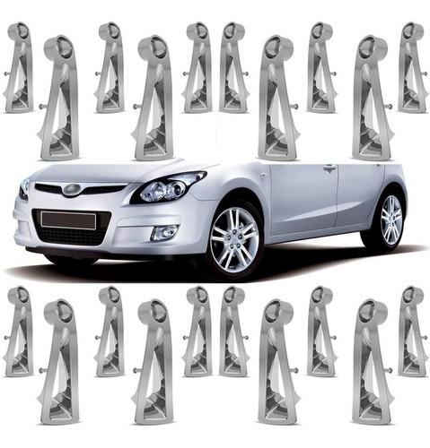 kit aplique roda calota cromada hyundai i30 2011 20 peças