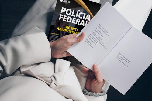 kit apostila agente administrativo pf + caderno de questões