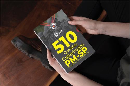 kit apostila soldado concurso pm sp + caderno de questões