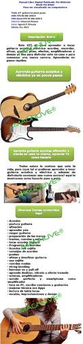 kit aprende a tocar guitarra acústica eléctrica acordes