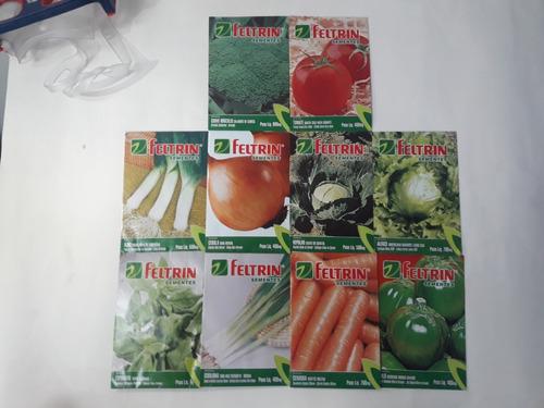 kit aprox2500 sementes 10 tipos horta quintal vaso hortaliça