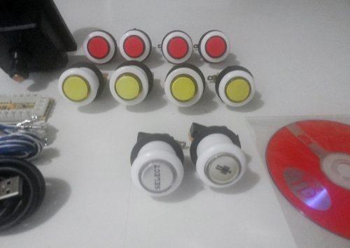 kit arcade diy   placa usb - 01 player - botões de acrilico